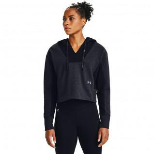 Sweat à capuche femme Under Armour brodé Rival Fleece