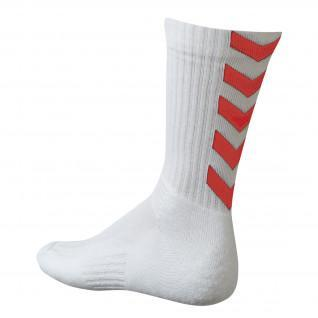 Chaussettes Hummel Authentic Indoor - Blanc / Rouge