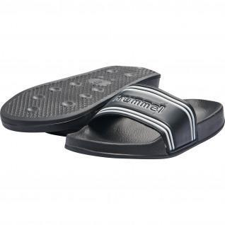 Sandales Hummel pool slide retro noir