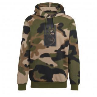 Sweatshirt à capuche adidas Originals Camo Allover Print