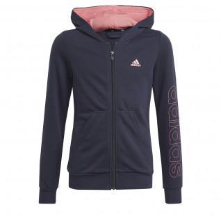 Sweatshirt zippé à capuche enfant adidas Essentials