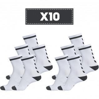Lot de 10 paires de chaussettes claires Hummel Elite Indoor Low