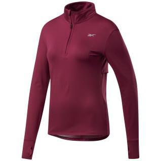 Sweatshirt femme Reebok Running 1/4 Zip