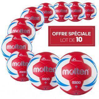 Lot de 10 ballons d'entrainement Molten HX3200 FFHB