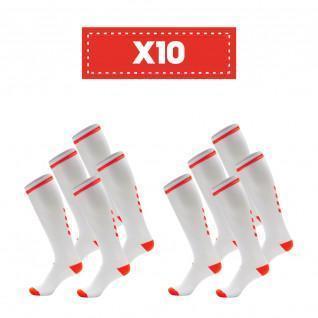 Lot de 10 paires de chaussettes claires Hummel Elite Indoor high