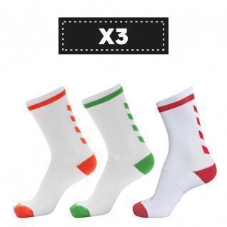 Lot de 3 paires de chaussettes claires Hummel Elite Indoor Low (coloris au choix)