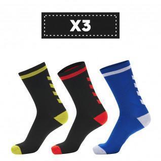 Lot de 3 paires de chaussettes foncées Hummel Elite Indoor Low (coloris au choix)