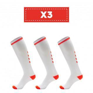 Lot de 3 paires de chaussettes claires Hummel Elite Indoor high