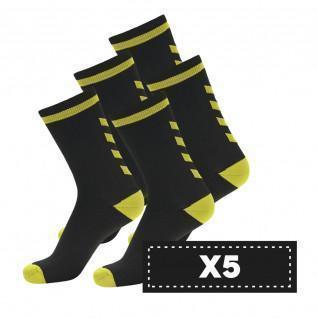 Lot de 5 paires de chaussettes foncées Hummel Elite Indoor Low