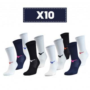 Lot de 10 chaussettes Mizuno Multisports