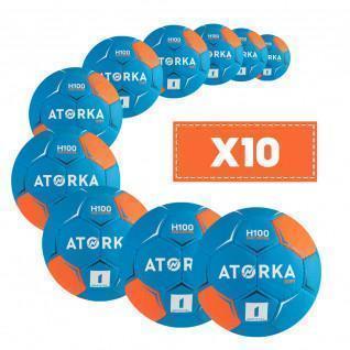 Lot de 10 ballons enfant Atorka H100 Soft