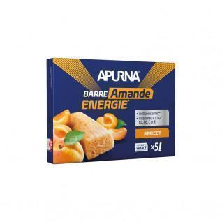 Lot de 5 barres fondantes Apurna Abricot/Amande