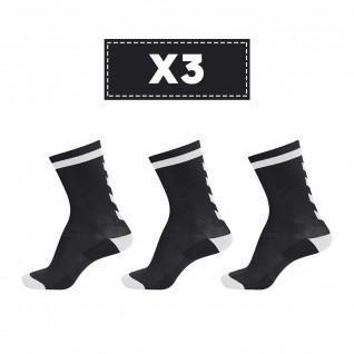Lot de 3 paires de chaussettes foncées Hummel Elite Indoor Low