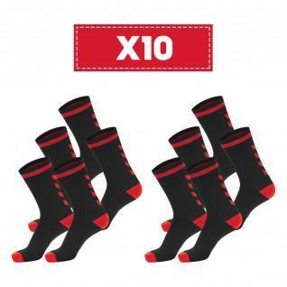 Lot de 10 paires de chaussettes foncées Hummel Elite Indoor Low