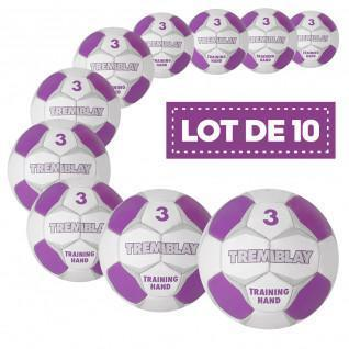 Lot de 10 ballons Tremblay training hand