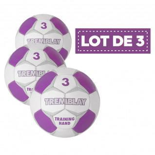 Lot de 3 ballons Tremblay training hand
